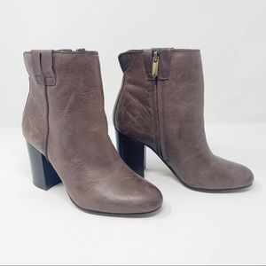 Sam Edelman brown leather heeled bootie